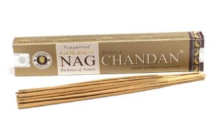 Vijayshree Golden Incense Sticks - Nag Chandan (15g = 15 sticks approx.)